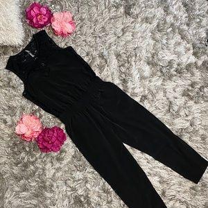 Express Partial Lace Jumpsuit Women size 4